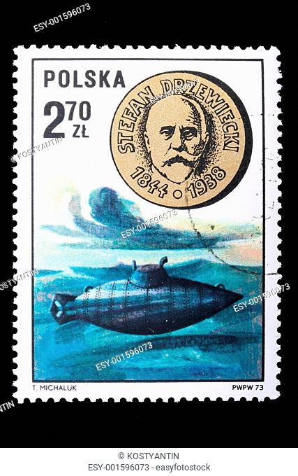 Poland - CIRCA 1973: A stamp Stefan Drzewiecki