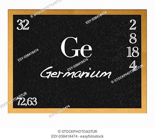 Isolated blackboard with periodic table, Germanium