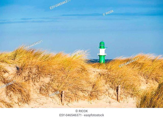 Dune on the Baltic Sea coast in Warnemuende (Germany)