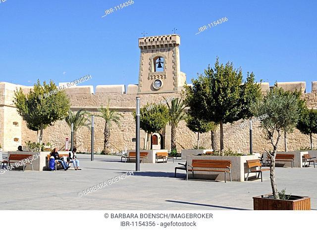 Town Square, Castillo Fortaleza, castle, fortress, cultural center, museum, Santa Pola, Alicante, Costa Blanca, Spain, Europe