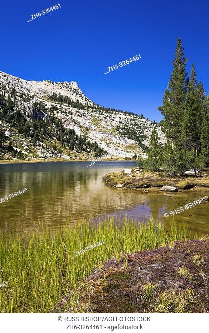 Elizabeth Lake and Unicorn Peak, Tuolumne Meadows, Yosemite National Park, California USA