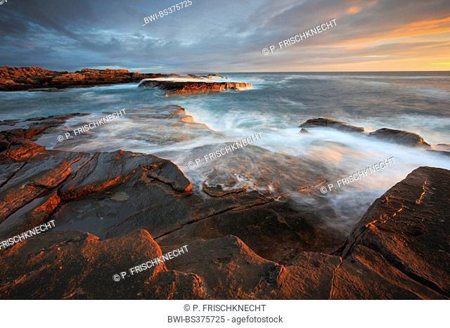 Sandy Beach Of The Sango Bay At Coast Scotland Sunset United Kingdom