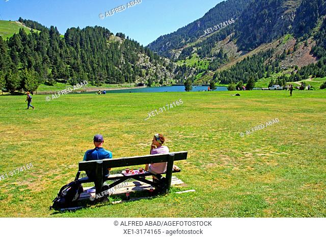 recreation area, Vall de Nuria, Girona, Catalonia, Spain