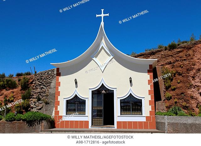 roadside church at Paul da Serra, Madeira, Portugal, Europe