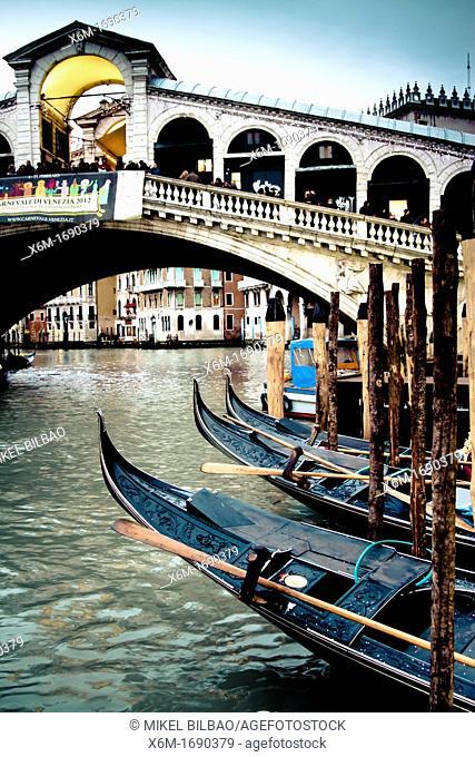 grand canal and gondolas  Venice, Italy