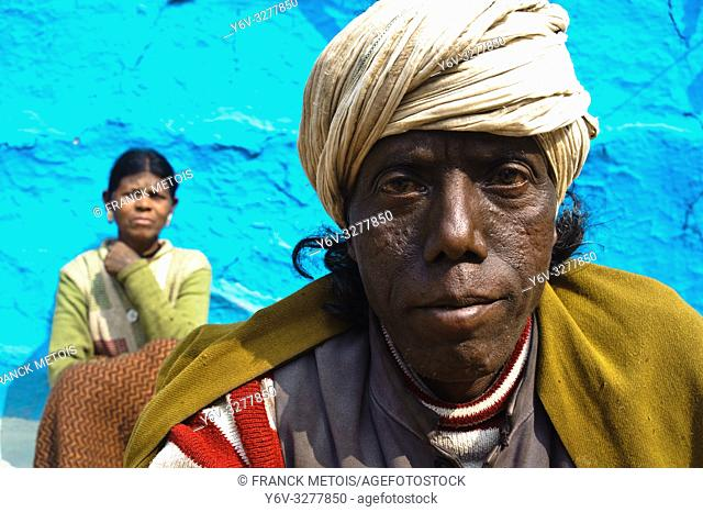 Husband and wife from the Baïga tribe ( Madhya pradesh, India)
