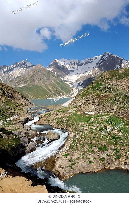 sheshnag lake, amarnath yatra, Jammu Kashmir, India, Asia