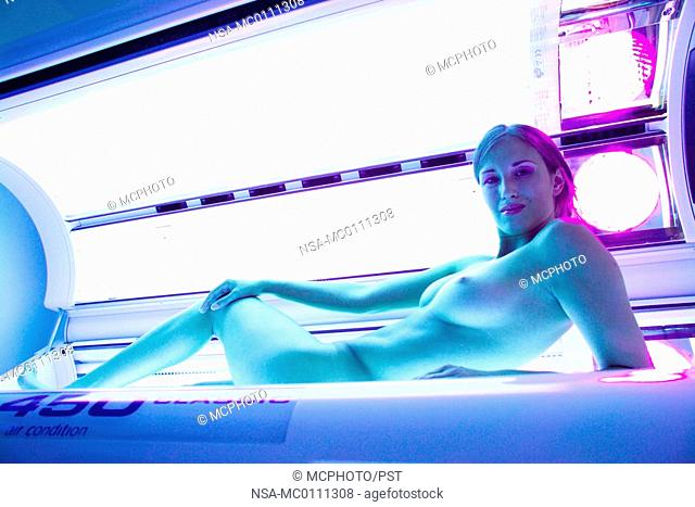 Right! nude tanning bed woman
