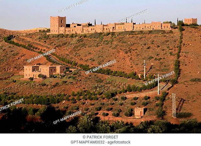 A COMPLEX OF LODGES ON THE HEIGHTS OF TAHANAOUTE, AL HAOUZ, MOROCCO