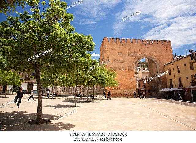 Puerta de Elvira-Arco de Elvira-Door of Elvira-Arch of Elvira, Granada Andalusia, Spain, Europe
