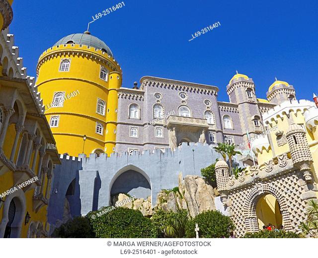 Palácio Nacional da Pena, 1840, The Pena National Palace, Sintra, Portugal, Europe