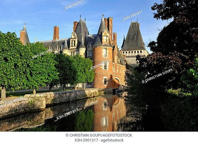 Chateau de Maintenon by the Eure river, Eure-et-Loir department, Centre-Val de Loire region, France, Europe