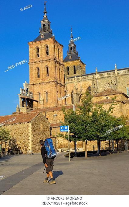 Astorga, Cathedral, Via de la plata, Ruta de la plata, Leon province, Castilla y Leon, Camino de Santiago, Way of St James, Spain, Europe