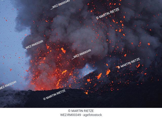 Indonesia, Anak Krakatau, Volcanic eruption