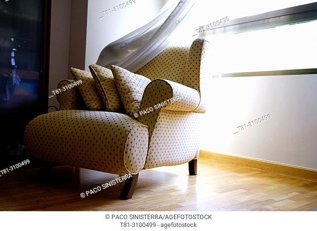sofa with window, Valencia, Spain