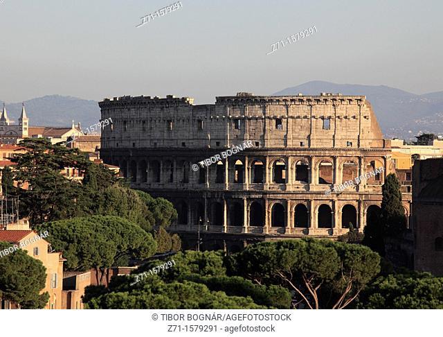 Italy, Lazio, Rome, aerial view, Colosseum