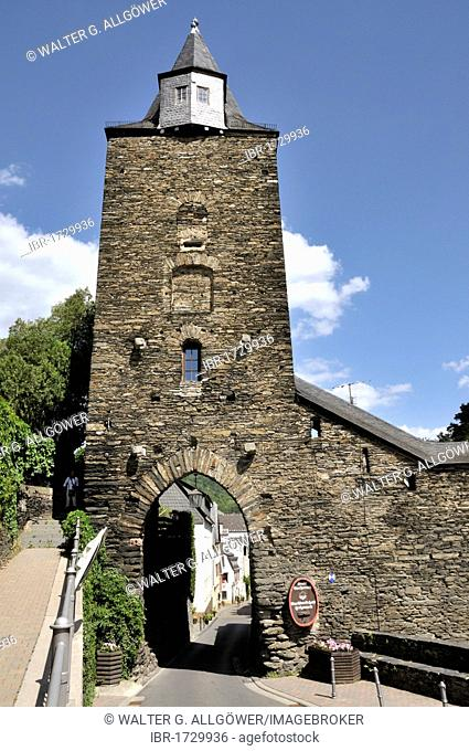 Steeger Gate, Bacharach, UNESCO World Heritage Site Upper Middle Rhine Valley, Rhineland-Palatinate, Germany, Europe