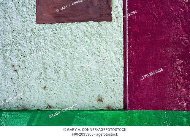 Colorful building wall, San Jose del Cabo, Mexico