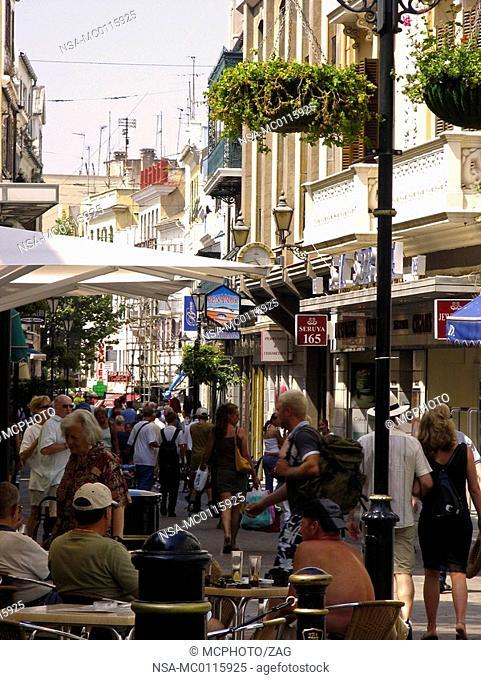 Mainstreet in Gibraltar