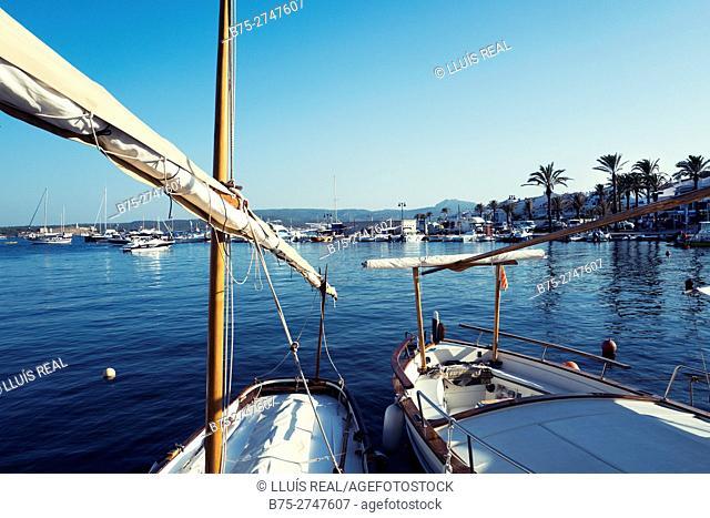 Port of Fornells. Minorca, Balearic Islands, Spain