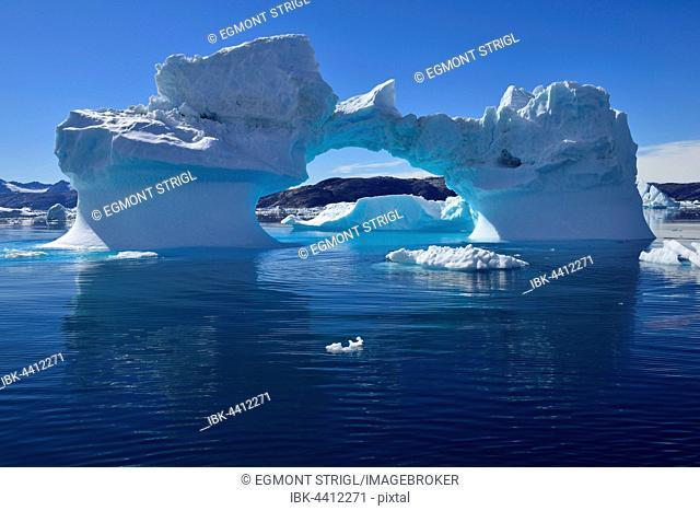 Iceberg drifting in Sermilik Fjord, East Greenland, Greenland