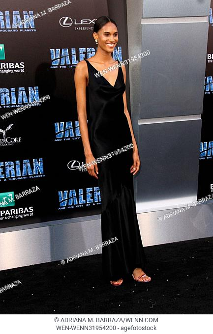 'Valerian and the City of a Thousand Planets' World Premiere held at TCL Chinese Theatre in Hollywood - Arrivals Featuring: Cindy Bruna Where: Los Angeles
