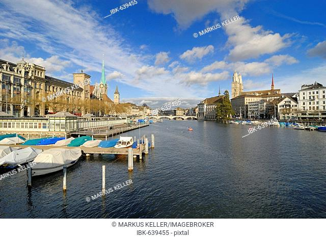 Zuerich - view over the Limmatquai - Switzerland, Europe