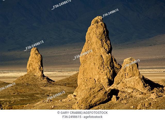 Tufa rock formations at the Trona Pinnacles, California