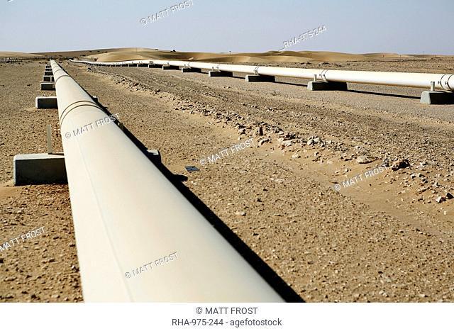 Qatar Oil Refinery Umm Said Inland Sea, Stock Photo, Picture