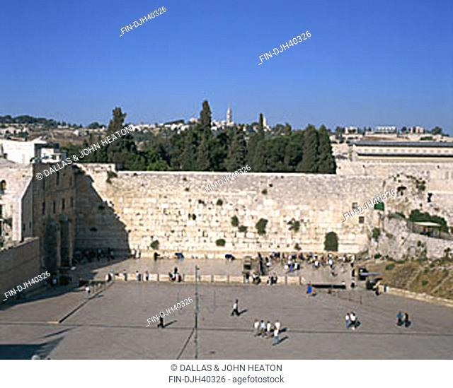 Israel, Jerusalem, Old City, Western Wailing Wall