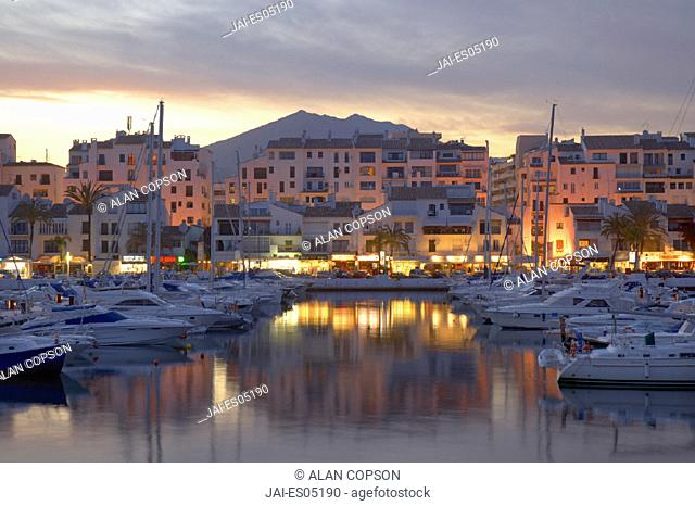 Puerto Banus Marina, Marbella, Malaga Province, Andalucia, Spain