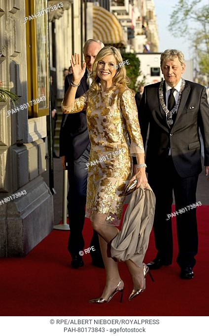 Amsterdam, 05-05-2016 HM Queen Máxima HM King Willem-Alexander and HM Queen Máxima attend in Amsterdam the liberation concert