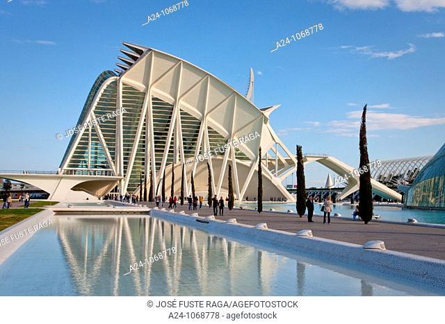 City of Arts and Sciences built by S. Calatrava, Valencia, Comunidad Valenciana, Spain