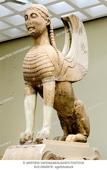 The Naxos Sphinx, Delphi Museum, Greece