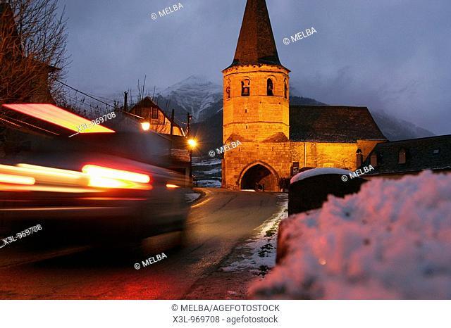 Church of Saint Martin in Gausac, Aran valley, Pyrenees, Spain