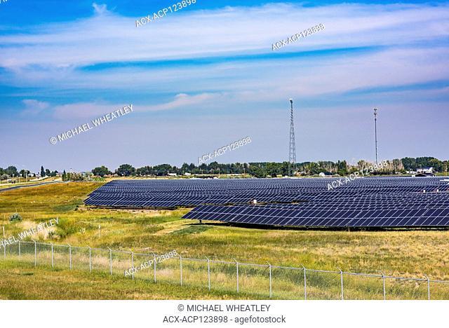 Solar panel farm, Brooks, Alberta, Canada