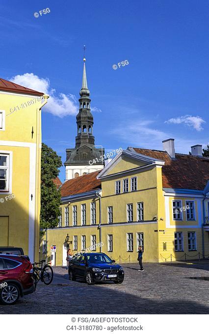 Old town and church of San Nicolás. . Tallinn. Estonia