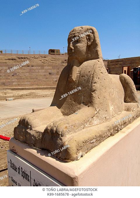 Sphinx, Edfu Temple dedicated to Horus, High Egypt