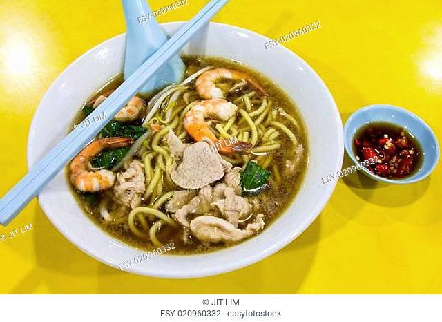 Hokkien Prawn Mee Soup Noodle