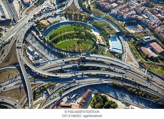 Junction of La Trinitat. Barcelona, Spain