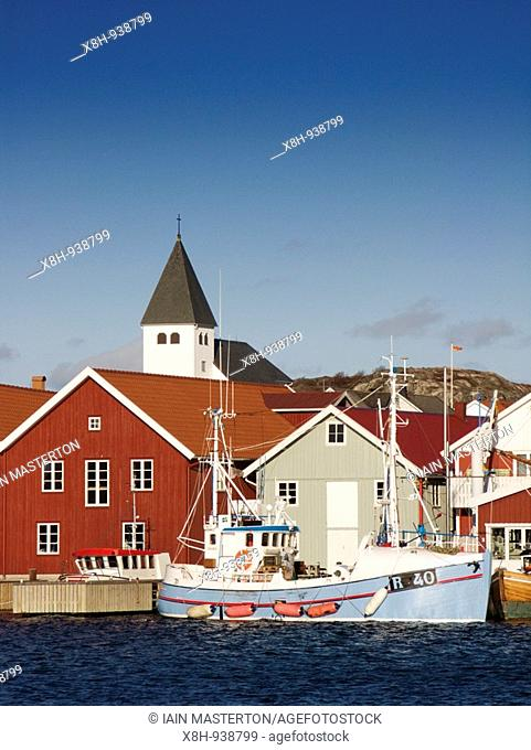 Harbour at Skarhamn a village on the west Bohuslan coast in Sweden