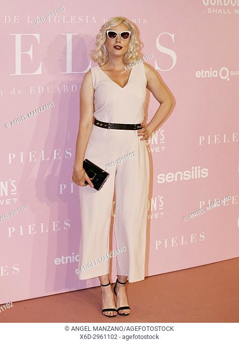 Carolina Bang attends the 'Pieles' premiere at Capitol cinema on June 7, 2017 in Madrid, Spain (Photo by Angel Manzano).