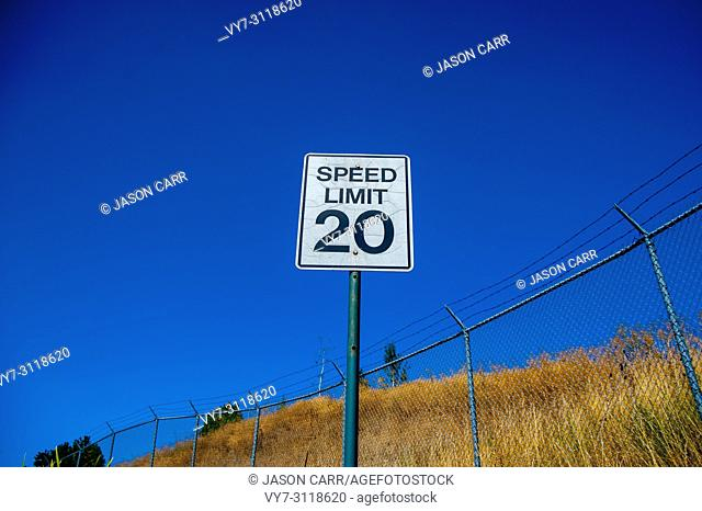 Sign 'Speed Limit 20' at 'Yellowstone National Park' is located in the U. S. states of Wyoming, Montana, and Idaho. This park is the first national park...