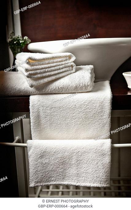 Bathroom, sink, towels