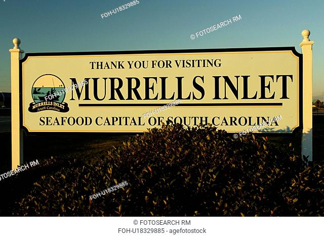 Myrtle Beach, SC, South Carolina, The Grand Strand, Murrells Inlet, Thank you for Visiting sign