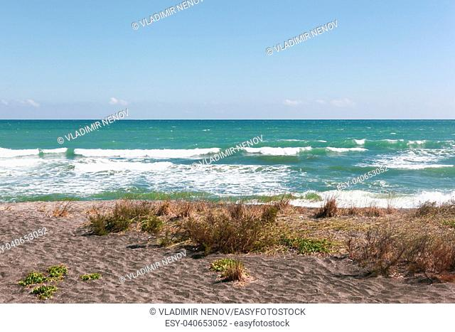 Beautiful beach and incredible sea in Pomorie, Bulgaria