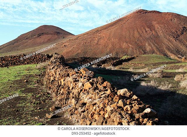 Volcanic landscape. Yaiza, Lanzarote. Canary Islands. Spain