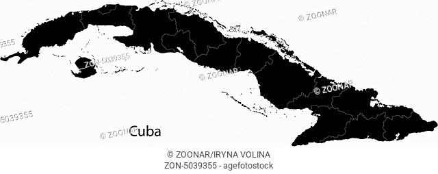 Black Cuba map