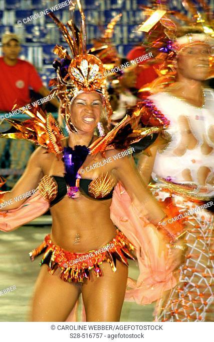 Young dancer at Carnival, Rio de Janeiro