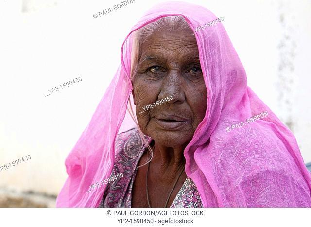 Mature woman - Shyampura Village, Rajasthan, India